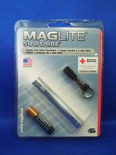 New Silver Maglite Solitaire Single Cell AAA Flashlight American Red Cross