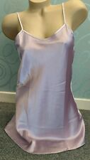 Ladies Luxury Short Chemise Satin Slip Babydoll  Nightdress Size Large 16/18