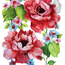"""Decoupage Craft Paper Cocktail Napkins 40 pcs 10""""x10"""" Red Watercolor Roses"""