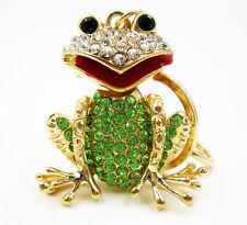 Charm Frog Key chain ring Frog Crystal Keychain Keyring Rhinestone Pendant