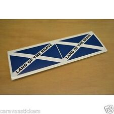 Flag 'Flag of Scotland' Flat Vinyl Sticker Decal Graphic PAIR