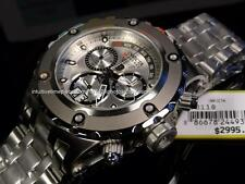 New Invicta Men Reserve Subaqua Specialty SS Retrograde Chrono SS bracelet Watch