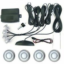 Car Reverse Parking 4 Sensor Security System Led Display SILVER With Buzzer.