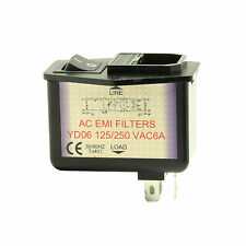Fused IEC-320 C14 Socket with EMI Filter built in Power Switch