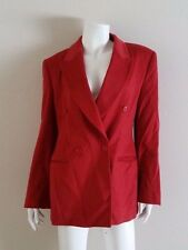 GIORGIO ARMANI Red Double Breasted Cashmere Coat Jacket sz 42 US 10