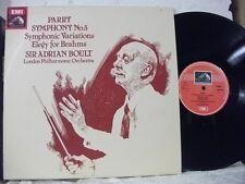 ASD 3725 PARRY Symph No 5, Symphonic Variations etc LPO BOULT HMV STEREO UK 1979