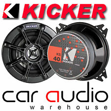 "Kicker KS40 4"" inch 10cm 120 Watts a Pair KS 2 Way Car Coaxial Door Speakers"