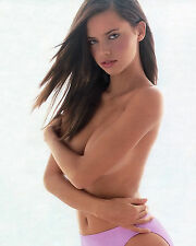 ADRIANA LIMA 8X10 PHOTO PICTURE PIC HOT SEXY BIG BOOBS TOPLESS IN PANTIES 55