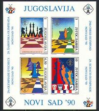 Yugoslavia 1990 Chess Pieces/Games/Sports m/s (n32077)