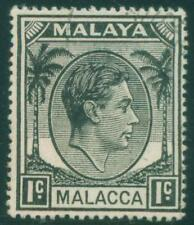 [JSC]1949 King George VI Postage Stamp Malaya Melacca 1c