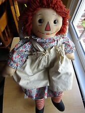 "Antique Raggedy Ann Doll -   Johnny Gruelle Tagged -1920's 19"" Adorable"