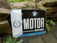 BMW Motor Maintenance - Embossed Wall Sign Motorcycle & Car - Made in Germany