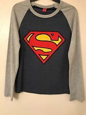 OFFICIAL LICENSED SUPERMAN LONG SLEEVE TEE T.SHIRT TOP FUN CUTE PRIMARK BNWT