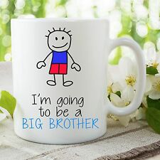 Je suis Going To Be A Big Brother Tasse Pour Son Surprise Baby Cadeau WSDMUG661