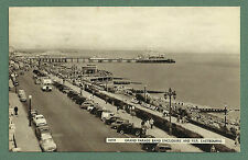 1966 PC GRAND PARADE, BAND ENCLOSURE & PIER EASTBOURNE - LOTS OF CARS