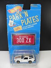Vintage Hot Wheels Park'N Plates Nissan 300 ZX with Garage White MOC Red Plate