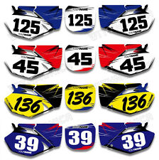 Custom Backgrounds Number Plate Graphics Fit YAMAHA YZF250 YZF450 2003 2004 05