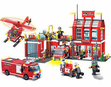 Mega Fire Station Truck Van Engine w/ Figures Compatible Building Bricks 980Pcs