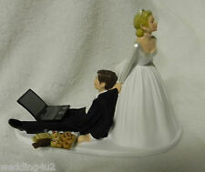 Wedding Party Reception ~Laptop Compute~ Cookie Tray Geek Nerd Cake Topper