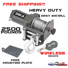 2500LB Pound WINCH KIT Boat Truck Offroad Trailer Fishing Garage Shop Tow Marine