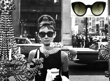 AUDREY HEPBURN STYLE RETRO ROUND CAT EYE SUNGLASSES BREAKFAST AT TIFFANY'S! NEW!