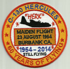C-130 HERCULES 60 YEARS OF FLYING PATCH, 1954-2014, MAIDEN FLIGHT 23 AUG 1954  Y
