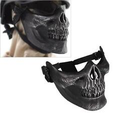 Army Skull Skeleton Airsoft Paintball BB Gun Game Half Face Mask Protect