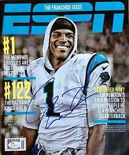 CAM NEWTON Signed Autographed ESPN The Magazine, Sept 30 2013, NO LABEL, JSA