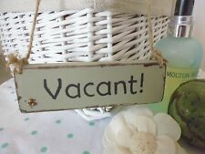 Shabby Chic Wooden Vintage Style Sage Green Vacant/Engaged Bathroom/Toilet Sign