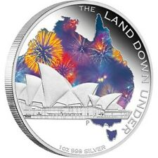 2013 $1 The Land Down Under Sydney Opera House 1oz Silver Proof Coin