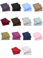Flat sheets percale poly cotton single double king size