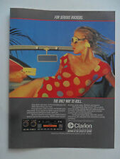 1985 Print Ad Clarion Car Audio Stereo System ~ Sexy Girl Polkadot Swimsuit