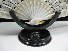 Plastic Chinese Hand Wood/Silk/Paper/Lace Folding Fan Stand Display Base Holder