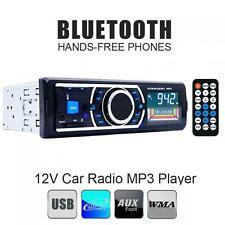 In-Dash Bluetooth Car Stereo 1 DIN Audio FM Radio Aux Input Receiver SD USB MP5