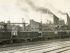 STEEL FURNACES ALABAMA'S IRON CENTER BIRMINGHAM ALA STEREOVIEW RAILROAD CARS