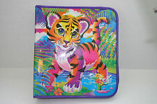 Vintage Lisa Frank Forrest The Tiger Cub Glitter 3-Ring Zipper Binder Notebook