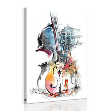 Modern Unframed Canvas Print Wall Art Painting Picture Decor-Abstract Violin NEW