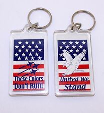 American Flag Keychain Patriotic Key Ring These Colors Dont Run United We Stand