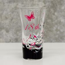 Hand Painted Tall Shot Glass 18th Birthday Gift | Pink for Girl | Personalised
