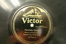 78 rpm Vinyl Victor Honolulu Honey & Sweet Hawaiian Girl of Mine 18796 A and B