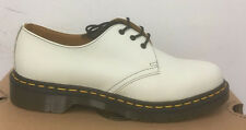 DR. MARTENS 1461 WINTER WHITE SOFTY T   LEATHER  SHOES SIZE UK 8