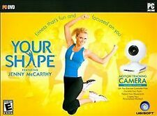 Your Shape Featuring Jenny McCarthy (PC, 2009) Game & Camera