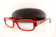 Brand New SALVATORE FERRAGAMO  Eyeglass Frames SF 2600 620 Red Horn Women SZ 53