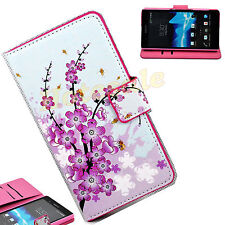 Flower Leather Wallet Holder Cell Phone Case Cover Stand For Sony Xperia Z L36H