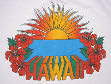 INCREDIBLE!! 80s vtg HAWAII SUN SET vacation PINK T SHIRT 50/50 LARGE