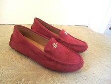 NEW COACH 'AMBER' BURGUNDY SUEDE LEATHER MOCCASIN SHOES Sz: 10 B $120