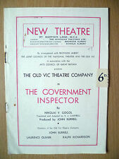 New Theatre Programme 1948- THE GOVERNMENT INSPECTOR by Nikolai V. Gogol