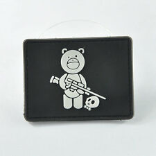 New Cute Bear 3D PVC Rubber Military Velcro Patch Army Moral Tactical SWAT Badge