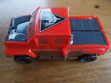 Vintage 1990s IRONHIDE Transformers GMC Red Truck Vehicle VGC