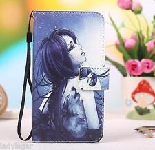 Funda libro estampado portatarjetas PU piel Alcatel One Touch Pop C7 7040 7041